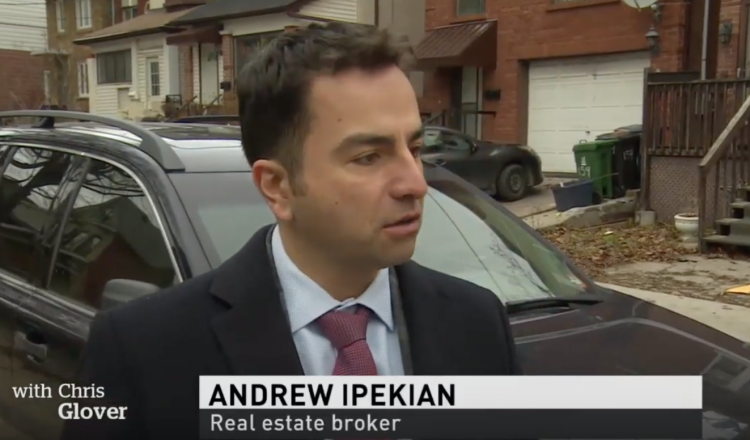 On Thursday December 27, 2018 Andrew was featured on CBC's 6pm nightly news discussing the $3M Riverdale house that stalls on market