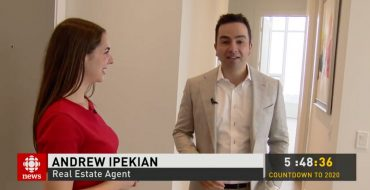 Andrew Ipekian tours an 8 Million Dollar penthouse listing during his interview with CBC News Toronto – December 31, 2019